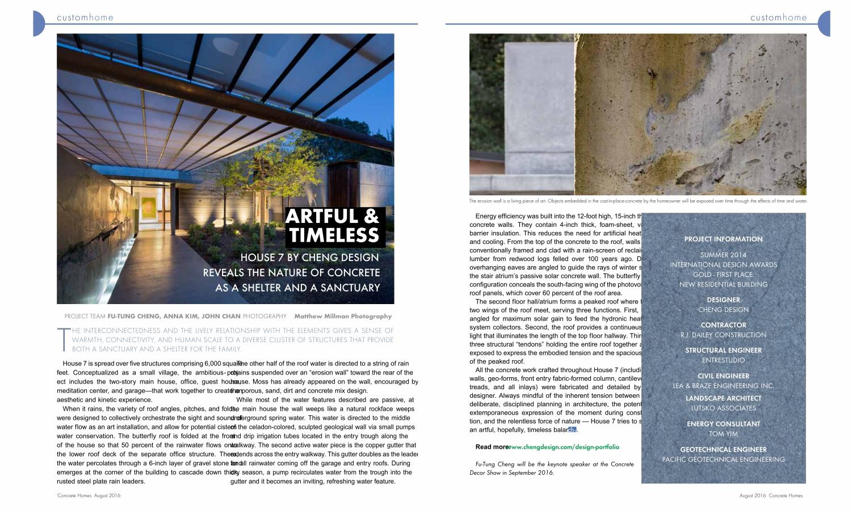 concrete homes features shapecrete founder futung chengs house rj design homes - Design Homes Inc