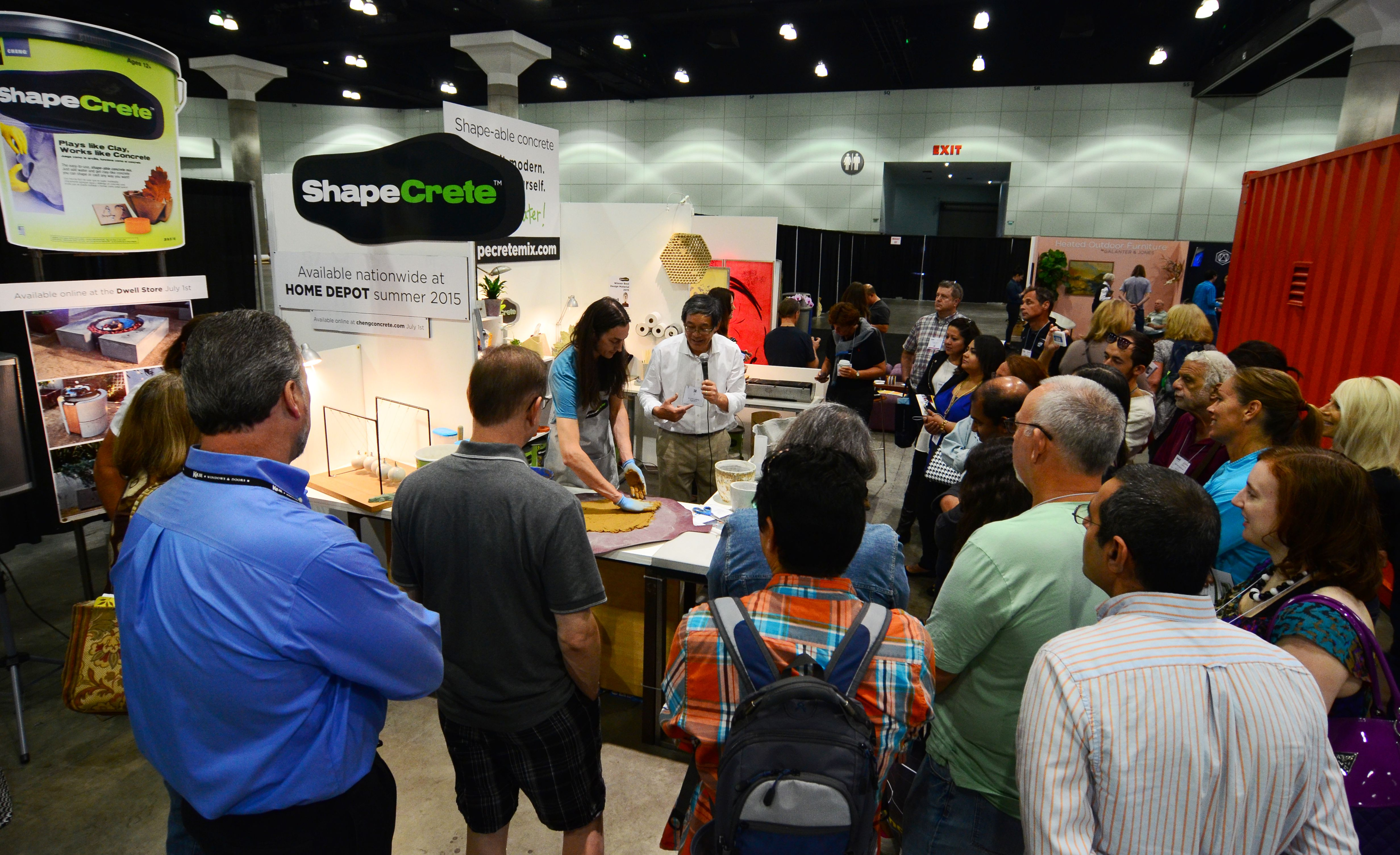Demos at ShapeCrete Booth, Dwell on Design 2015