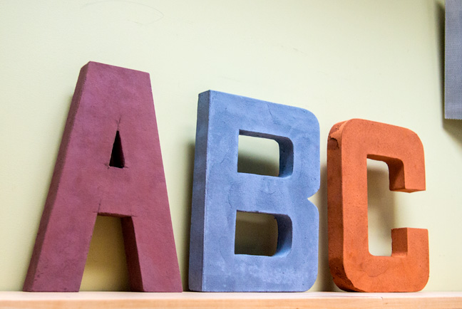 Preformed cardboard letters shapecrete for 24 cardboard letters