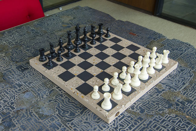 Concrete Chess Board - Handmade Gift for Men